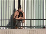 Voyeur Camera Caught Amateur Couple Fucking At Balcony