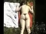 Spying Amateur Woman Sunbathing Topless