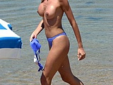 Hot Amateur Milf Photographed Doing Topless At Beach