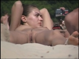 Nudist Beach Hottie from Ukraine Closeup Pussy on Voyeur Cam