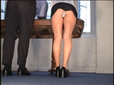 Upskirt office secretary away for