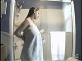 Hidden Camera Shower Video Caught Big Tits Girl Naked