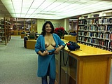 Nude Photo Exhibitionist Wife Flashes Boobs at Public Library