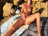 My Nude Wife on the Beach Playing with Her Pussy