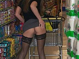 Mature Shopping And Flashing Pussy Pictures