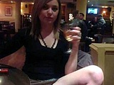 Flashing Pussy Photos of Girlfriend in Public Restaurant