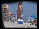 Spying with Camera at the Beach Naked Women