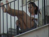 Hidden Voyeur Camera Films Sexy Legs of Female Neighbor