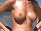 Awesome Naked Topless Boobs at the Local Beach