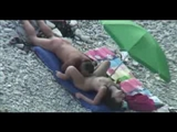 Naked Beach Couple Caught on Peeking Cam Fucking