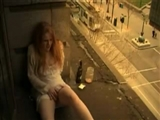 Hot Girl is so Horny so She Masturbates on the Balcony