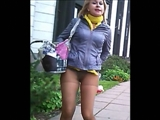 Public Candid Video of Hot Russian Girls Flashing Their Panties