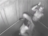 Security Camera Caught Exhibitionist Couple Fucking in Elevator
