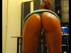Argentina Ass in Nice Thong Filmed on Webcam