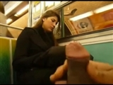 Dick Flashing in the Subway Showing to a Hot Girl