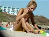 Naked Women Filmed at the Beach on Voyeur Video Camera