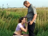Dutch Couple Fucks Outdoors Near Public Highway