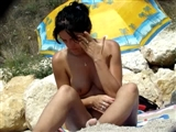 Naked Wife at the Beach Filmed on Voyeur Camera