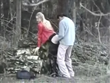 Couple Filmed by Friend Fucking in the Woods