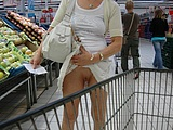 Flashing Pussy Photo of Wife in Public Store