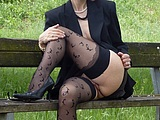 Flashing Pussy Photo Mature Wife Showing Cunt in Park