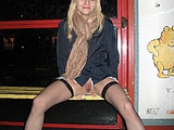 Flashing Pussy Photo of Polish Wife in Public Bus Station