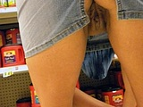 Upskirt Nude Cunt Photo of Mature Woman in Supermarket