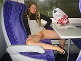 Flashing Pussy in Public Transport - Voyeur Pictures