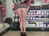 Wife Flashing Nude in a Store - Voyeur Pictures