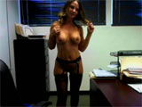 Superb Secretary in Sexy Lingerie Naked at the Office