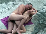 Nudist Couple Filmed on Camera Fucking on the Beach