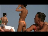Romanian Beach Sexy Girl Topless with Nice Big Tits