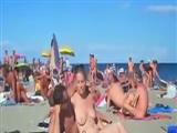 Beach Swingers Sex Nude Couples Making Sex on Public Beach