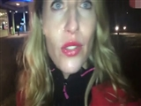 Candid Camera Woman Blows Dick and Walks with Jizz on Face