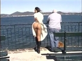 Exhibitionist Woman Flashing on Camera Outdoor