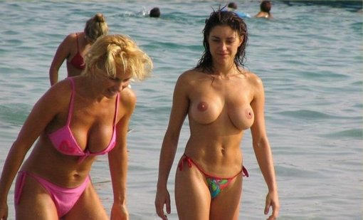 Submit Your Hot Ex Big Boobs At The Beach Photo