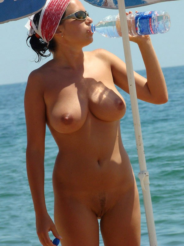 Nudist Mom Photo at the Greek Beach