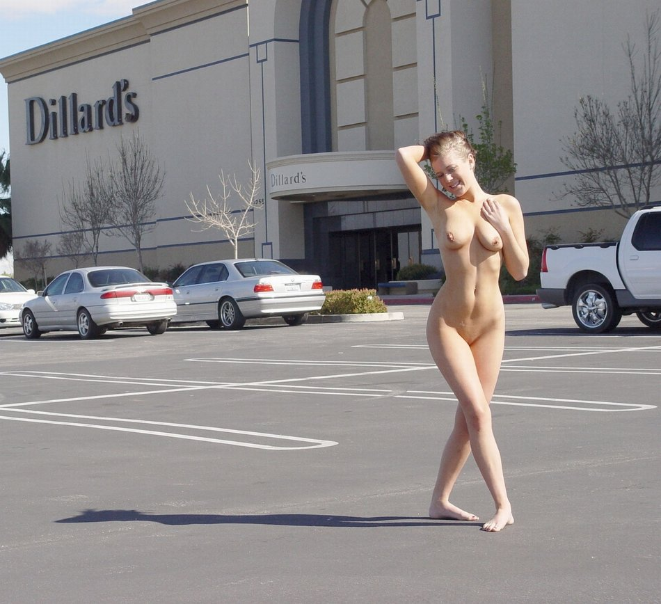 women nude in public