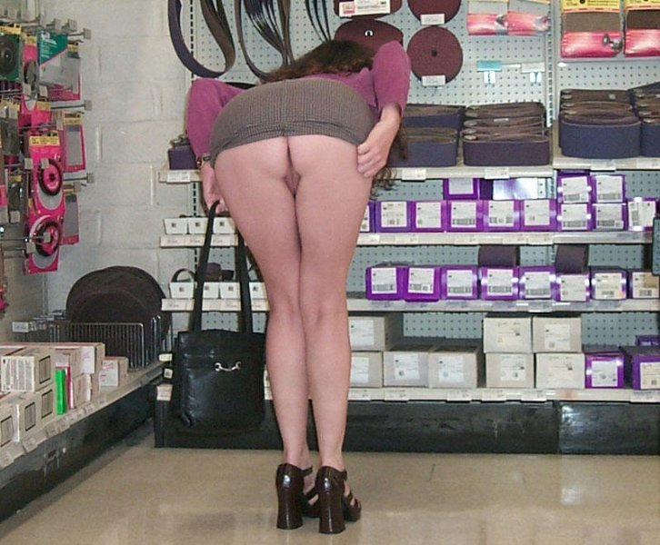 Wife Flashing Nude in a Store