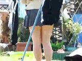 Webcam Upskirt Woman Bending Over On The Grass