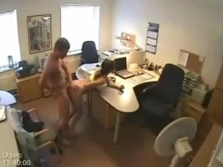 Cam sex hidden office
