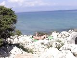 Nudists Beach in Croatia Sexy Wife Doing Nude Sunbathing
