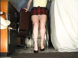 Upskirt Amateur Wife Filmed on Voyeur Camera for Husband