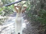 Topless Beach Woman with Natural Big Boos Candid Voyeur Video