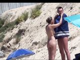 Girls at the Beach Doing Topless Sunbathing On Voyeur Video
