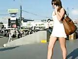 Sexy Upskirt Video Cute Hot Girl with Panties Filmed Voyeur