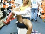 Porn Pics of Wife Flashing While Shopping