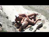 Playa nudista sexo Video pareja atrapados teniendo sexo Voyeur CAM