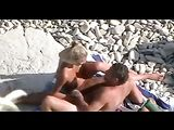 Spy Beach Voyeur Clip of Mature Couple Fucking on Beach