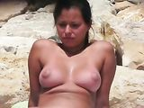 Nudist Beaches Video of Hot Amateur Woman Naked on Camera